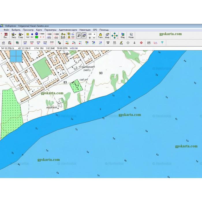 карта глубин рузского водохранилища