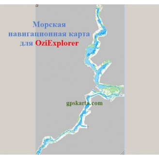 Карта глубин для OziExplorer Казань-Саратов