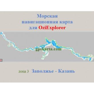 Морская карта для OziExplorer Заволжье-Казань