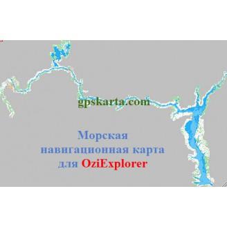 Карта глубин для OziExplorer Ярославль-Заволжье