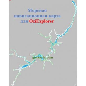 Карта глубин для OziExplorer Тверь-Петраково (Иваньковское, Угличское вдхр)