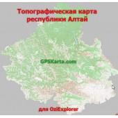 Алтай топографическая карта для смартфонов, планшетов и навигаторов