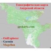 Амурская область Топографическая карта для Garmin (JNX)