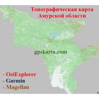 Амурской области топографическая карта для смартфонов, планшетов и навигаторов (OziExplorer)