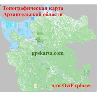 Архангельская область топографическая карта для смартфонов, планшетов и навигаторов (OziExplorer)