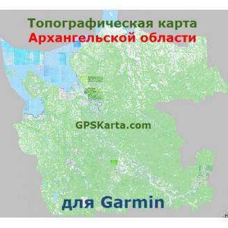 Архангельская область ТОПО для Туристических GARMIN (JNX)