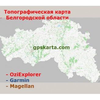 Белгородская область Топографическая Карта для Garmin (JNX)