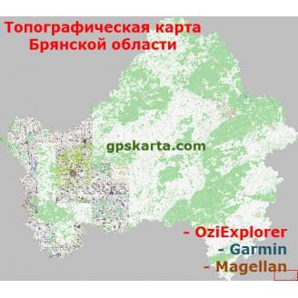Брянская область топографическая карта для смартфонов, планшетов и навигаторов (OziExplorer)