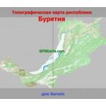 Бурятия Республика Топографическая Карта для Garmin (JNX)