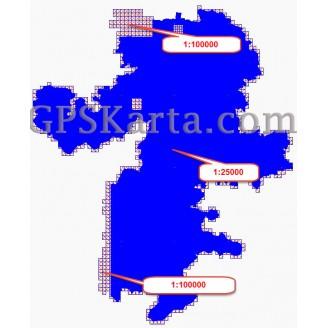 Челябинская Область Топографическая Карта для Garmin (JNX)