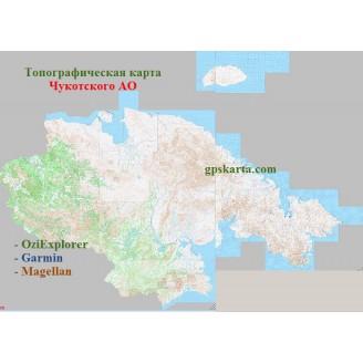 Чукотка  топографическая карта для смартфонов, планшетов и навигаторов (OziExplorer)