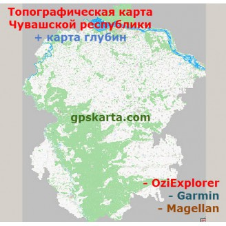 Чувашия Республика Топографическая Карта для Garmin (JNX)