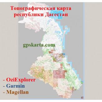 Дагестан Топографическая карта для Garmin (JNX)