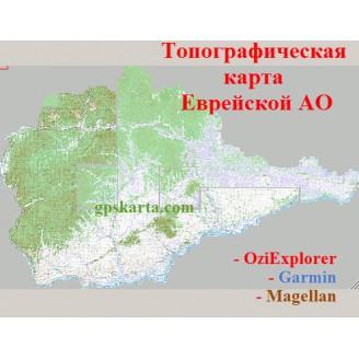 Еврейская автономная область  топографическая карта для смартфонов, планшетов и навигаторов (OziExplorer)