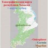 Хакасия Республика Топографическая Карта для Garmin (JNX)
