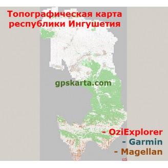 Республика Ингушетия  топографическая карта для смартфонов, планшетов и навигаторов (OziExplorer)