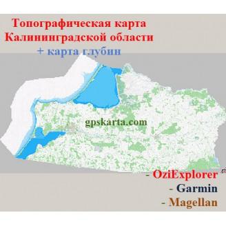 Калининградская область 2.0 топографическая карта для смартфонов, планшетов и навигаторов (OziExplorer)