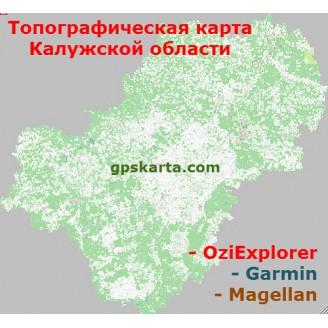 Калужская область топографическая карта для смартфонов, планшетов и навигаторов (OziExplorer)