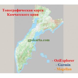 Камчатский край топографическая карта для смартфонов, планшетов и навигаторов (OziExplorer)