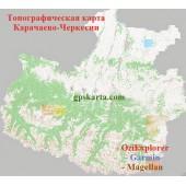 Карачаево-Черкесия Топографическая Карта для Garmin