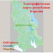 Карелия Топографическая Карта с глубинами водоемов для Garmin (JNX)