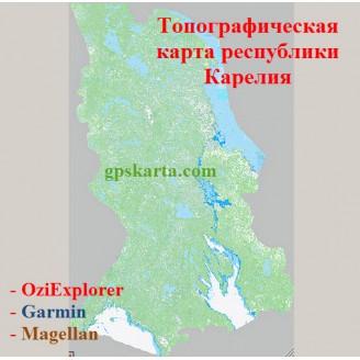 Топографическая карта Республики Карелия 3.0 для смартфонов, планшетов и навигаторов (OziExplorer)