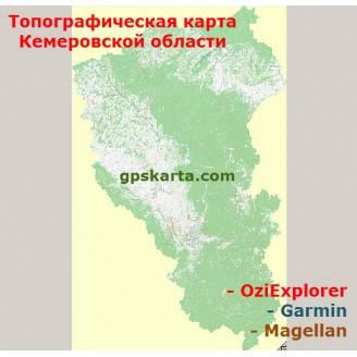 Кемеровская Область Топографическая Карта для Garmin (JNX)