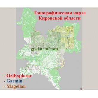 Кировская Область Топографическая Карта для Garmin (JNX)
