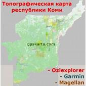 Коми Республика Топографическая Карта для Garmin (JNX)