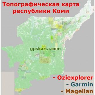 Республика Коми 1.1 топографическая карта для смартфонов, планшетов и навигаторов (OziExplorer)