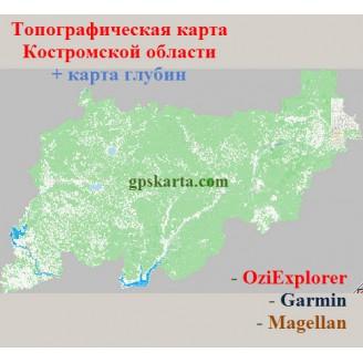 Костромская область 2.0 топографическая карта для смартфонов, планшетов и навигаторов (OziExplorer)