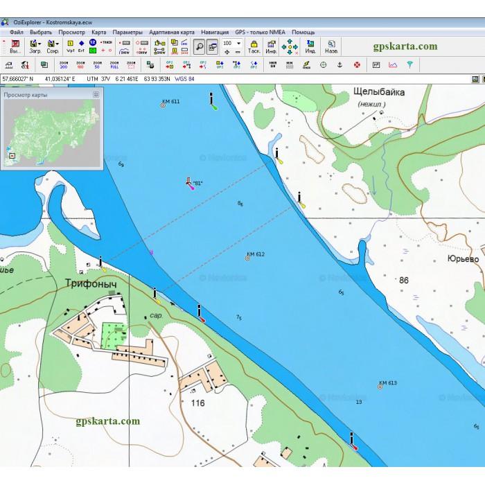 Карты польские wig 250 метров квадрат p49-s38-c.