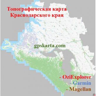 Краснодарский край топографическая карта для смартфонов, планшетов и навигаторов (OziExplorer)