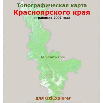 Красноярский край до 2007г топографическая карта для смартфонов, планшетов и навигаторов (OziExplorer)