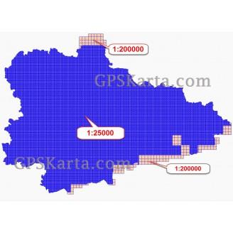 Курганская область топографическая карта для смартфонов, планшетов и навигаторов (OziExplorer)