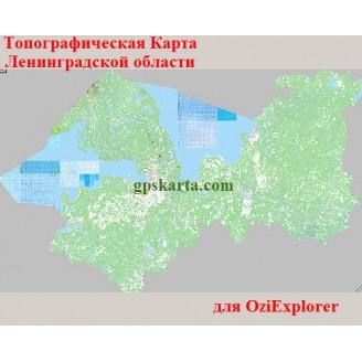 Ленинградская область топографическая карта для смартфонов, планшетов и навигаторов (OziExplorer)
