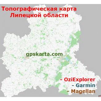 Липецкая область топографическая карта для смартфонов, планшетов и навигаторов (OziExplorer)