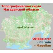 Магаданская Область Топографическая Карта для Garmin (JNX)