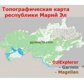 Марий Эл Республика Топографическая Карта для Garmin (JNX)