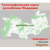Мордовия Республика Топографическая Карта для Garmin (JNX)