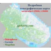 Мурманская Область Топографическая Карта для Garmin (JNX)