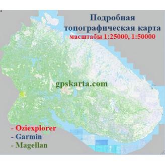 Мурманская область топографическая карта для смартфонов, планшетов и навигаторов (OziExplorer)