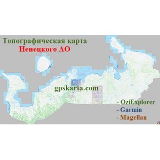 Ненецкий Автономный Округ Топографическая Карта для Garmin (JNX)