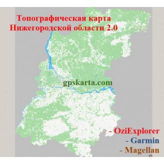 Нижегородская область v2.0 топографическая карта для смартфонов, планшетов и навигаторов (OziExplorer)