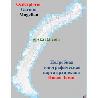 Новая Земля Топографическая Карта для Garmin (JNX)