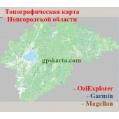 Новгородская Область Топографическая Карта для Garmin (JNX)