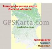 Омская Область Топографическая Карта для Garmin (JNX)
