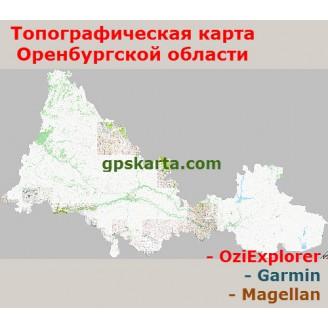 Оренбургская Область Топографическая Карта для Garmin (JNX)