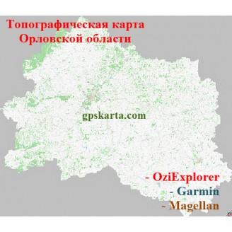 Орловская Область Топографическая Карта для Garmin (JNX)