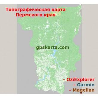 Пермский край 2.0 топографическая карта для смартфонов, планшетов и навигаторов (OziExplorer)